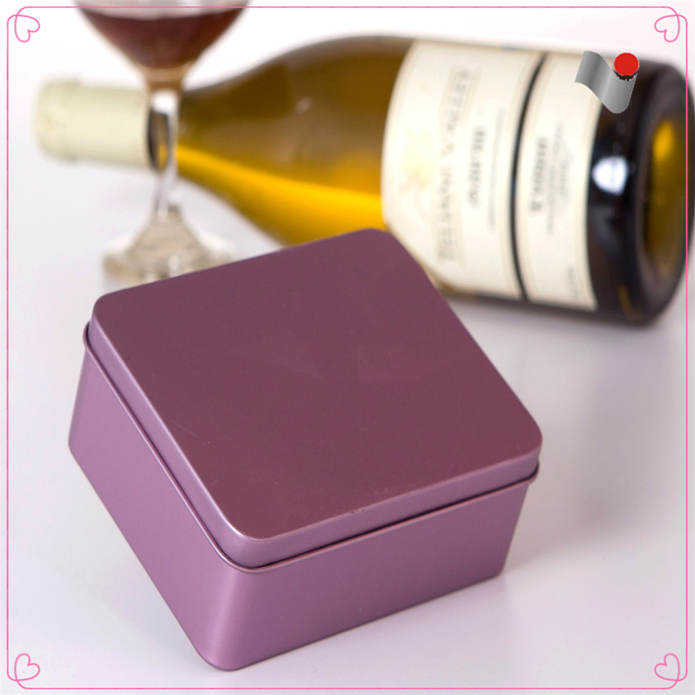 Simple retangle blank cigarette tin box
