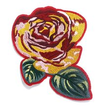 New designed iron on flower sequin custom embroidery patch