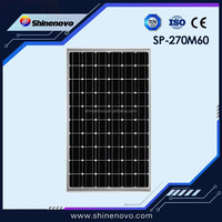 China 270watt mono silicon solar crystalline panels