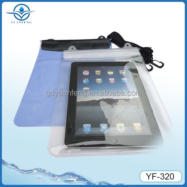 large waterproof pvc bag for ipad air and tablet