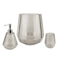 Hot selling diamond shape white translucent 3PCS high quality resin bathroom accessories set