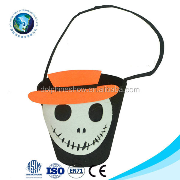 Halloween Accesory Horriable Skeleton Bag Kids Cosplay Candy Bag