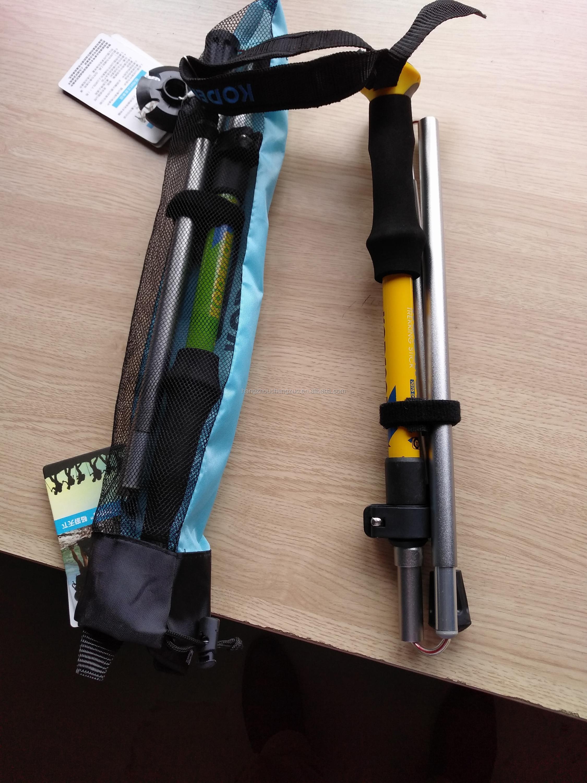 높은 엔드 Enhaced 강한 만찬 빛 접는 5 섹션 북유럽 등산 지팡이 워킹 스틱, CZX-179 캠핑 스틱, 접는 등산