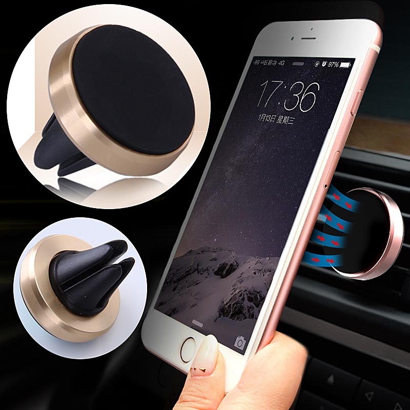2016 New Car Holder Mini Air Vent Mount Magnet Magnetic Phone Mobile Holder Universal For iPhone 5 6 6s For Samsung Car Holder