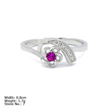 [RZ3-0040] 925 Sterling Silver Jewelry Ring with CZ Stones Wedding Silver Ring