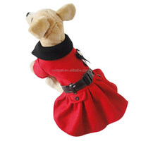 High Collar Large Skirt Dog Wool Coat fit for Spring Autumn and Winter