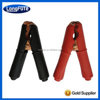 China brass plated insulated battery crocodile clips/clamps