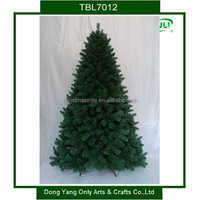 210cm/7ft pvc artificial christmas tree with metal base