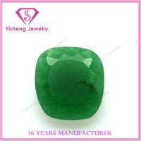 AAA Fashion Loose Glass Gemstone Sapphire Green Jade Rough for Sale
