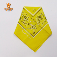 Fashion custom printed cheap brand bandana screen printing