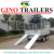flat-top tandem hydraulic side and tractor tipping trailer 10x6