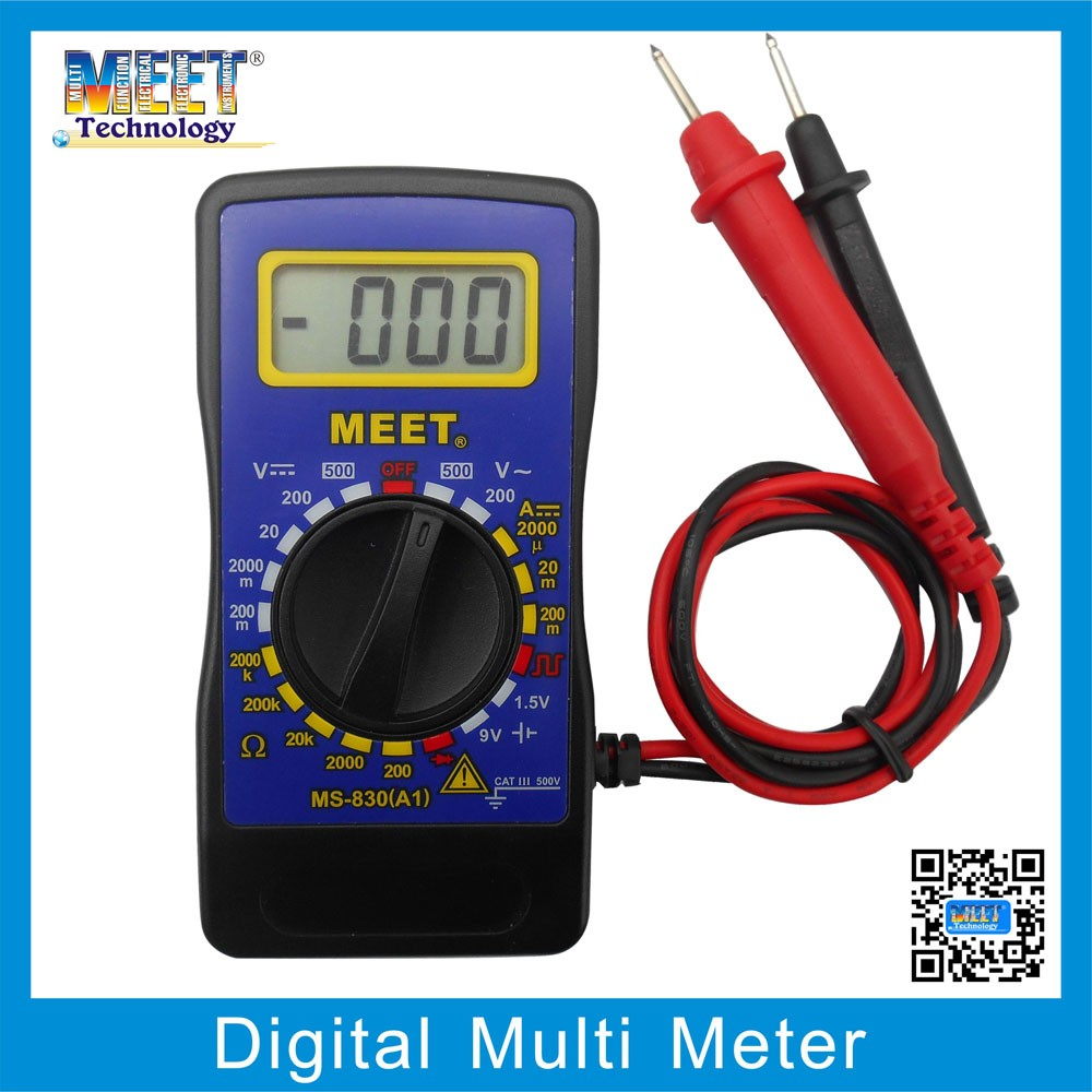 MS-830A1 Classical Digital Multimeter with Test Lead