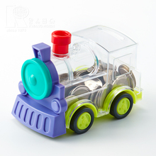 Kwang Hsieh Specialized Fancy Train Shaped Plastic Saving Coin Bank