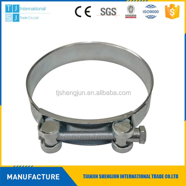 Hot selling 188-200 european type robust heavy duty hose clamps