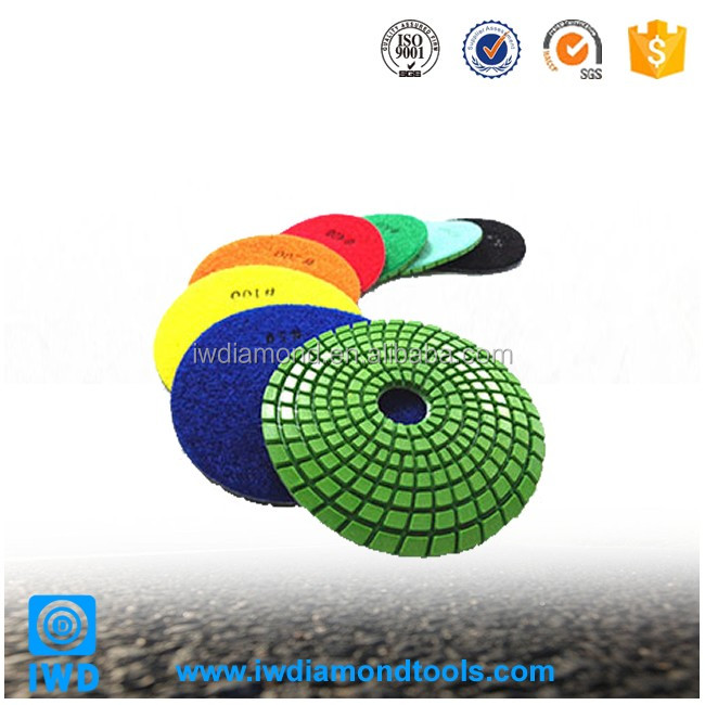 Wet Dry Free sample Diamond Pads For Granite diamond hand polishing pads