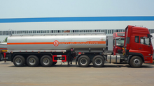 Various dimensions 3axle fuel tanker trailer on sale