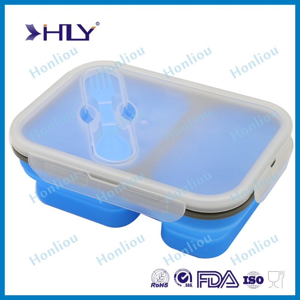 Hot sales new design silicone collapsible lunch box
