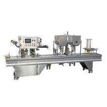 Automatic Cup Filling Sealing Machine hummus cup washing filling and sealing machine