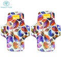 wholesale Women Bamboo Charcoal Menstrual Pad washable Cloth Sanitary Pad