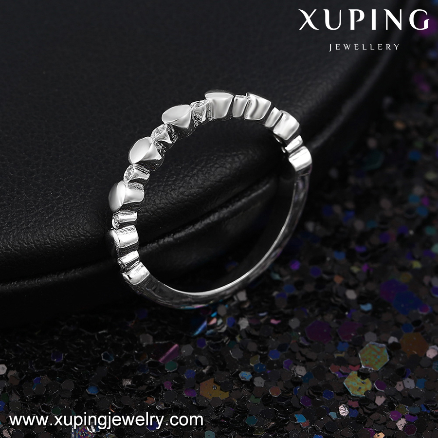 14007 Xuping engagement ring plain knuckle ring italian style Polished Infinity cute ring