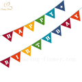Manufactory decorative happy birthday party paper banner