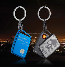 XY410809 New heating wire electric rechargeable usb lighter with keychain