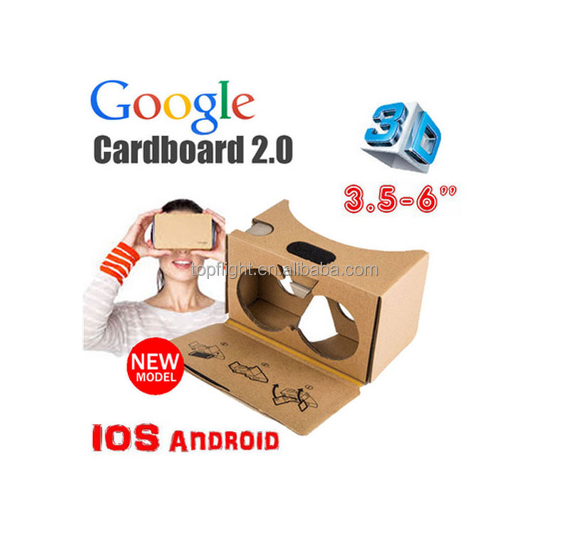 Cheap Google Game Movie Cardboard Virtual Reality 3D Glasses