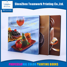 Family lamination art paper food menu cooking book recipe printing family cookbook printing