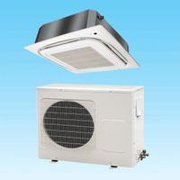 Ceiling cassette air conditioner with pure cooper condenser and evaporator