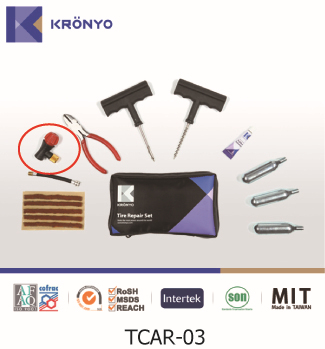 KRONYO tyre puncture solution cylinder Co2 tire repair materials