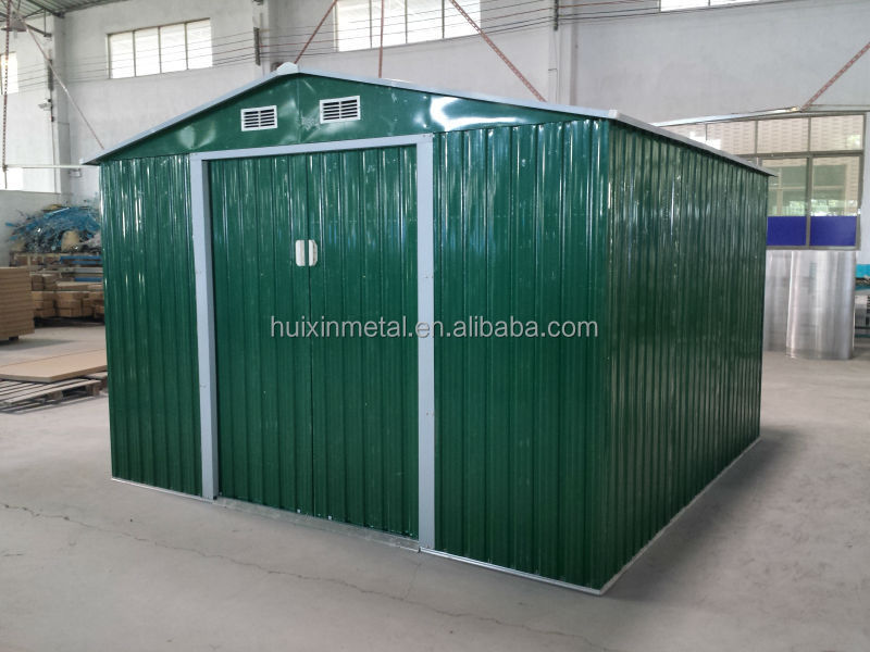 Outdoor wooden imitation color sheds and storage for garden tools HX81122-B