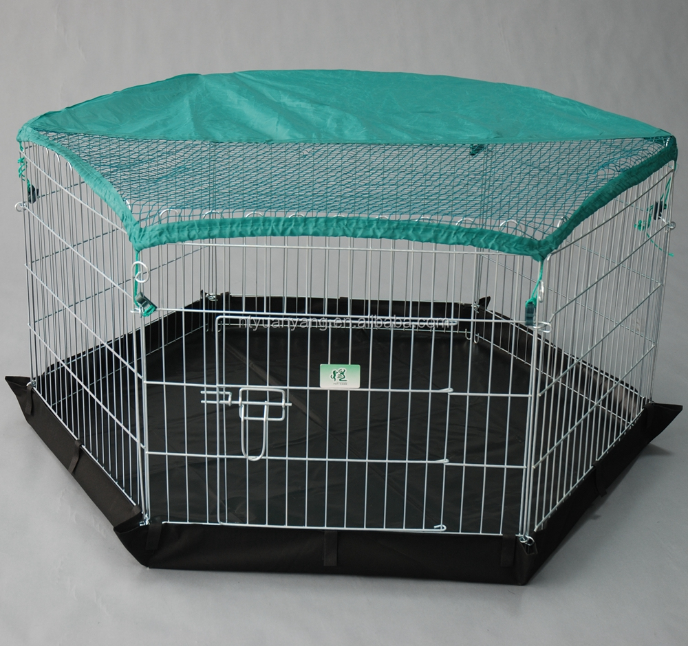 six panels with sunshade outdoor galvanized metal wire Pet Play pen