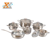 12 Pcs Cheap Hight Quality German Stainless Steel kitchenware Set