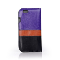 Luxury Flip PU Leather Card Wallet Cell Phone Case For Iphone 6s