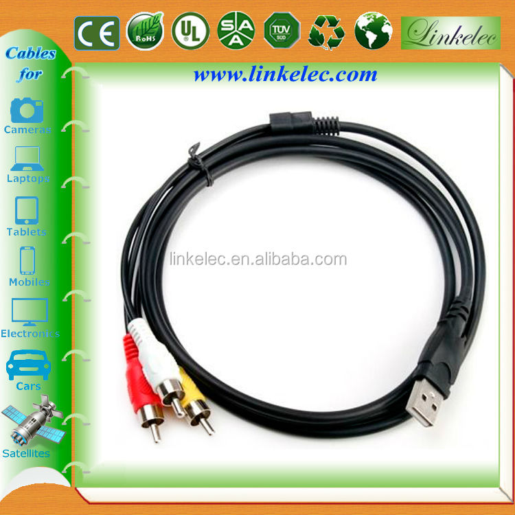 Wholesale factory price usb female to rca male cable