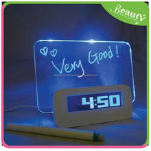 novelty alarm clock radio ,H0T128 decorative erasable message board
