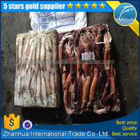 2016 New arrival frozen squid bait 200-300g chocolate illex argentina squid