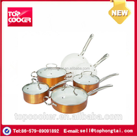Indian ceramic coating dinnerware set with stainless steel handle