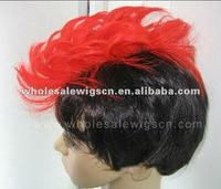 Especial short party red hair wigs
