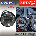 2016 Black/silver 30W 10-30V 4.5inch fog light without halo ring for H-arley