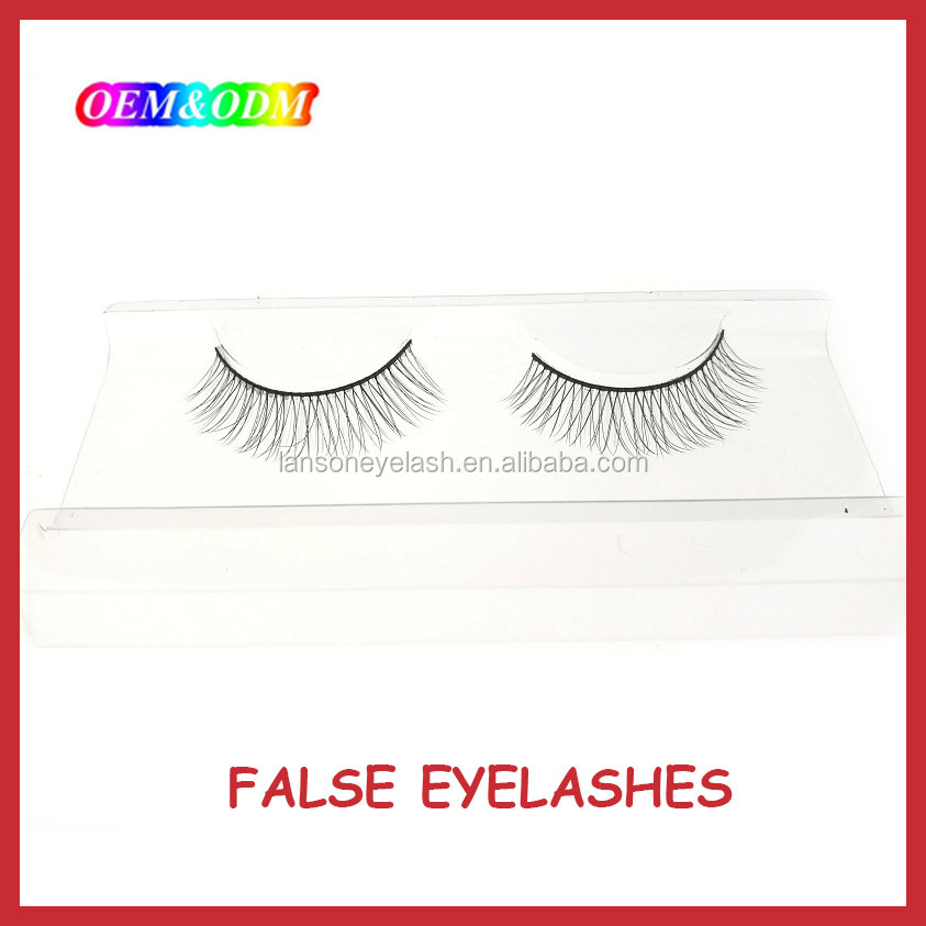 Premium quality private label hand made free fake eyelashes wholesale false eyelashes