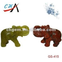 jade and rainbow stone carved animal