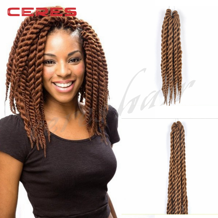 24 Synthetic Hair Crochet Braids 2x Jumbo Senegalese Twist Havana ...