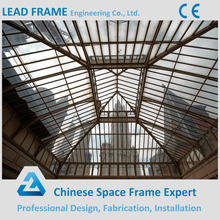 Beautiful Steel Frame Structure Glass Roof for Hotel