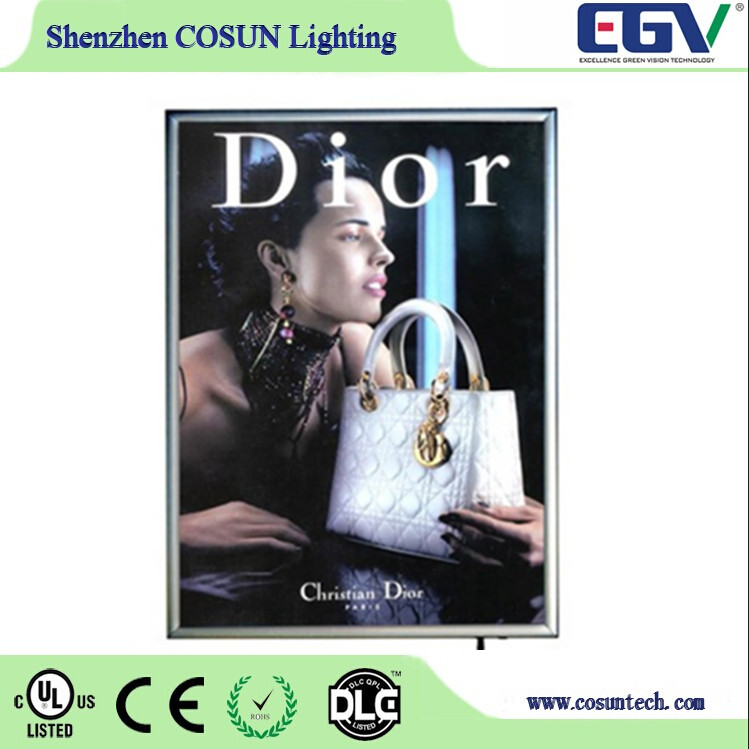 picture frame led light box indoor frame and CE UL RoHS LED lighting wall mounted,ceiling hanging