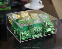 Eco-friendly clear acrylic tea bag organizer