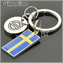 New design zinc alloy souvenir key ring norway