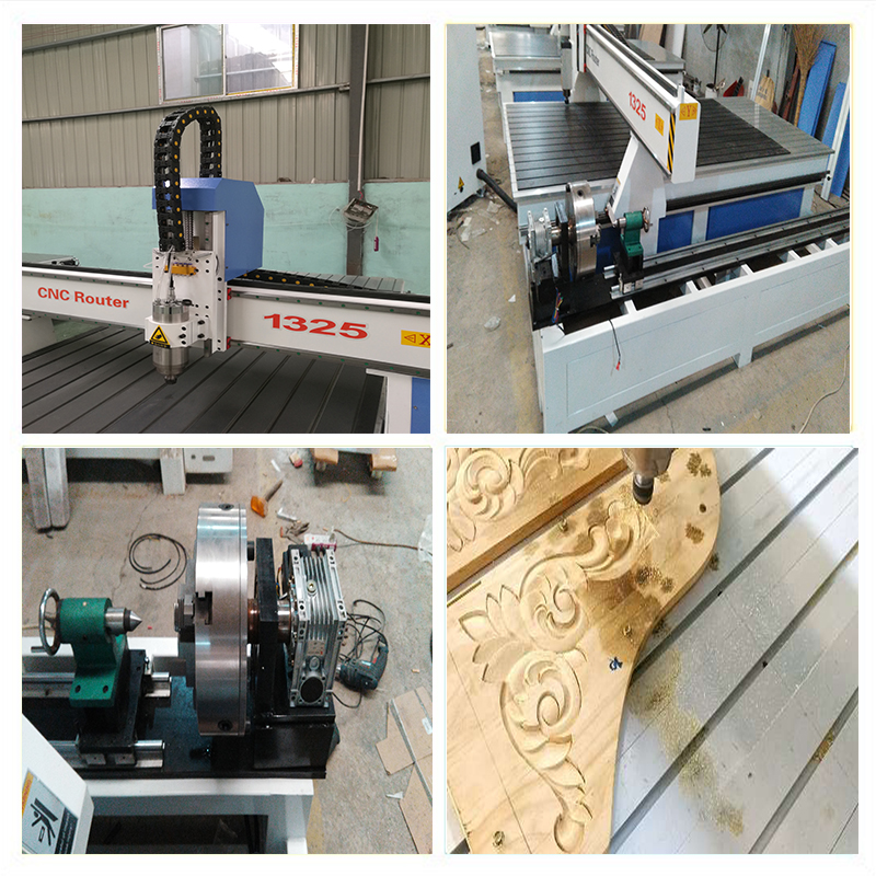 HQD spindle rotary cnc router wood engraving  machine from Jinan