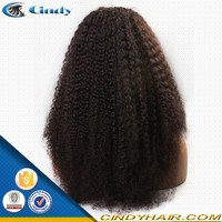 Glueless 100% virgin very long kinky curly old lady wigs