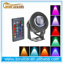 RGB 10w led swimming pool lights with remote control